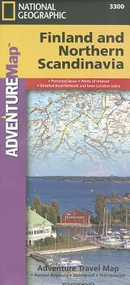 National Geographic Adventure Map Finland and Northern Scandinavia